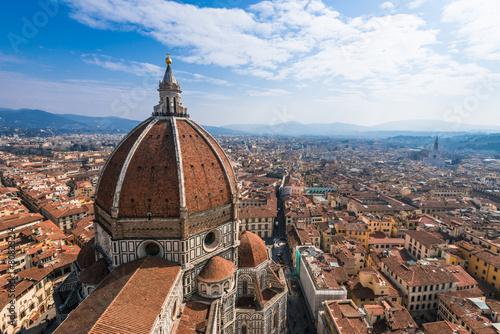 Foto  イタリア フィレンツェ ドゥオーモと街並み