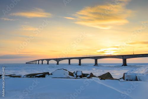 Photo  Confederation Bridge at Sunset