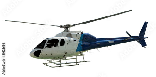 Tuinposter Helicopter Travel helicopter with working propeller