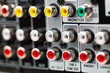 RCA Sockets Of Audio Surround ...