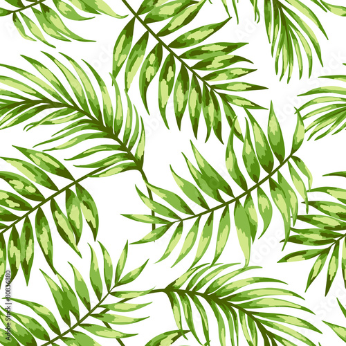 Seamless exotic pattern. Wall mural