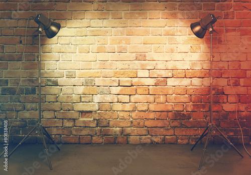 Valokuvatapetti photo studio in old room