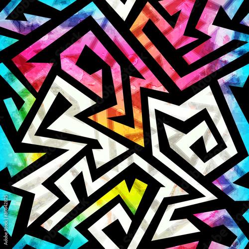 music-geometric-seamless-pattern-with-grunge-effect
