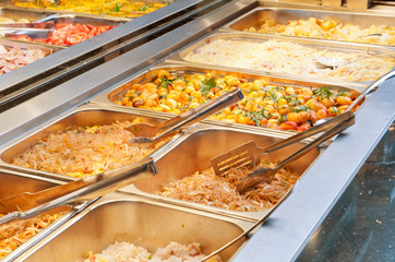 FototapetaBuffet gastronomico al ristorante cinese