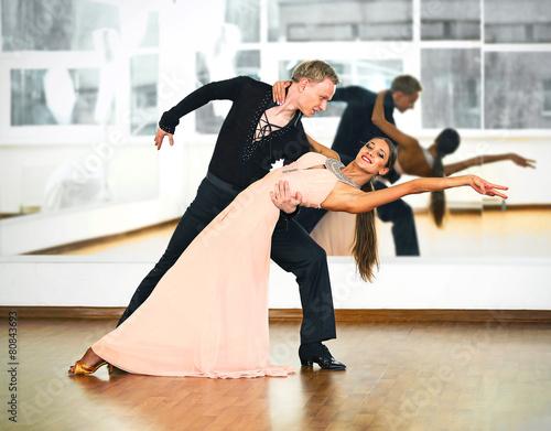 Fotografie, Obraz Ballroom dance in motion