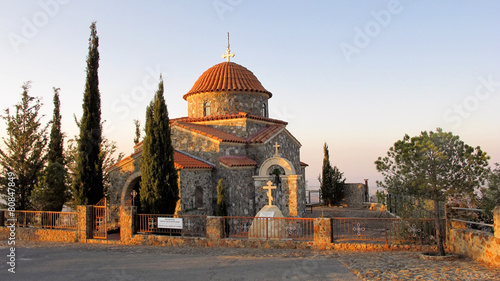 Stavrovouni monastery chapel in the mountains of Cyprus