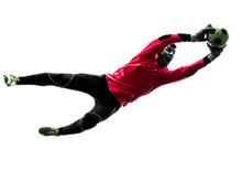 Caucasian Soccer Player Goalke...