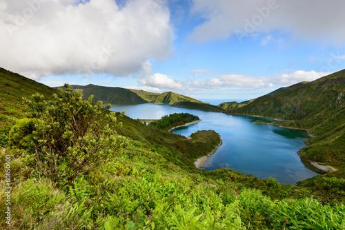 Photo  Paisagem da Ilha de Sao Miguel nos Açores