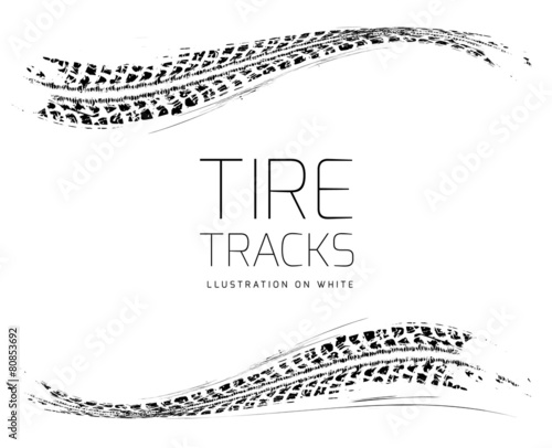 Tire tracks background Wall mural