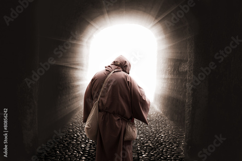 Franciscan missionary walking to god Fototapeta
