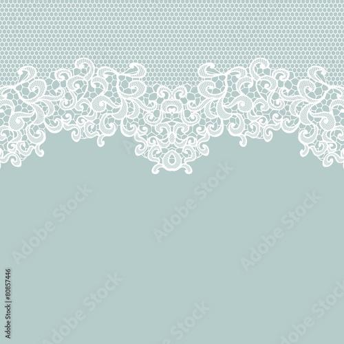 Valokuva  Vintage lace invitation card.