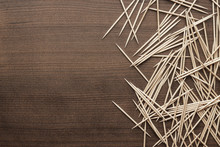 Wooden Toothpicks On The Table...