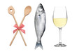 Kochlöfffel, Fisch und Weißwein