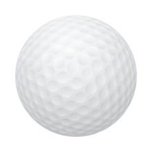 Vector Golf Ball Isolated On W...