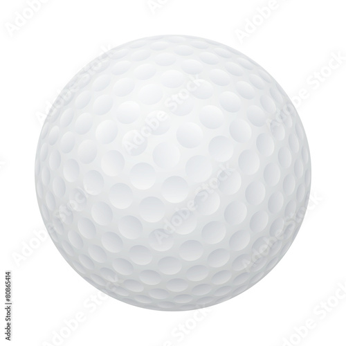 Fotografia, Obraz Vector golf ball isolated on white.