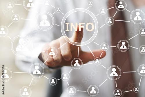 Fotografie, Obraz  Obchodní informační tlačítko info na ikonu znamení.