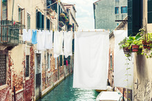 Hanging Clothes Venice Italy