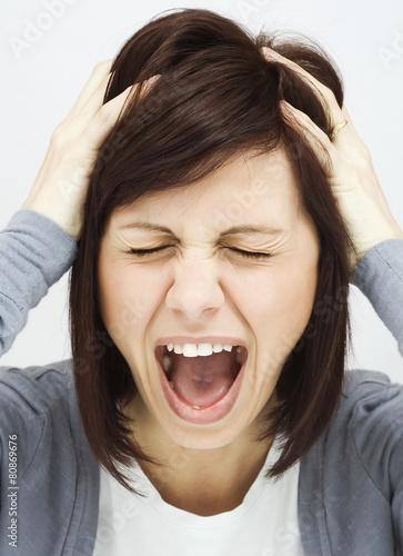 Fotografie, Obraz  Are you crazy woman