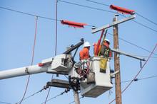Aerial Powerline Workers