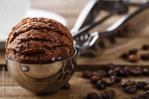 Zdjęcie XXL Czekoladowa kawowa lody piłki miarki łyżka