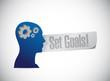 set goals people sign concept illustration design