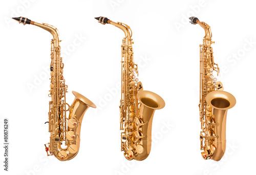 Vászonkép Alto saxophone in soft light