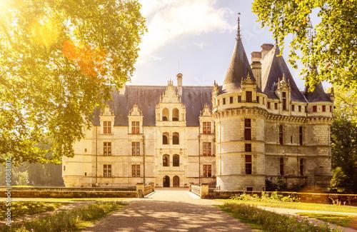 obraz PCV The chateau de Azay-le-Rideau, castle in France