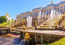 Peterhof Palace With Grand Cascade Near Saint Petersburg, Russia