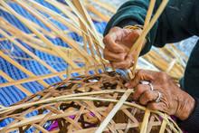 Weaving Bamboo Basket.