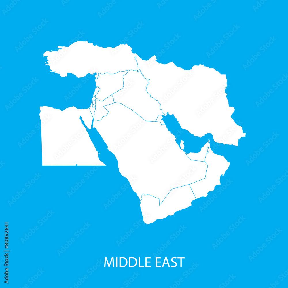 Nahost Karte.Nahost Karte Foto Poster Wandbilder Bei Europosters