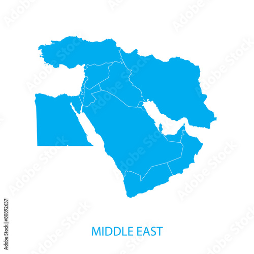 Photo  Middle East Map