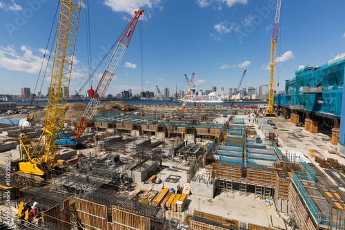 Foto op Plexiglas 再開発中の豊洲地区
