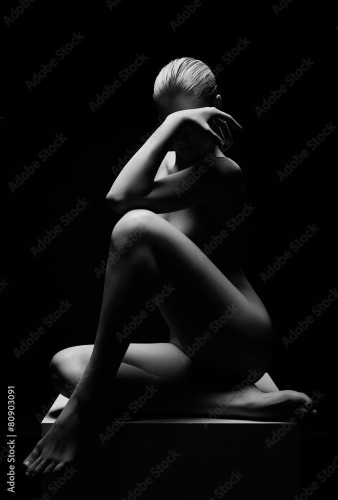 Fototapeta Beautiful girl posing naked