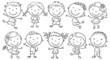Ten Happy Cartoon Kids
