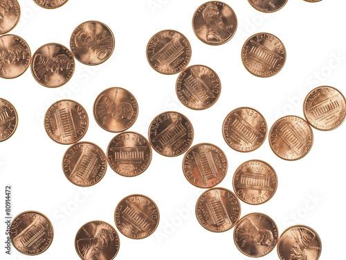 Fotografía Dollar coins 1 cent wheat penny cent