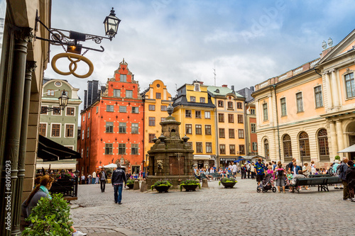 Photo  Stortorget place in Gamla stan, Stockholm