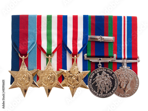 Poster  World War II Canadian medals