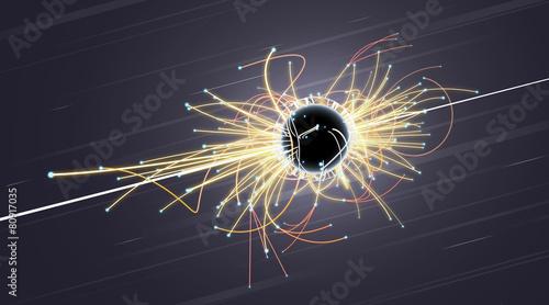 Fotografie, Obraz  Particle Collision and Blackhole in LHC (Large Hadron Collider)