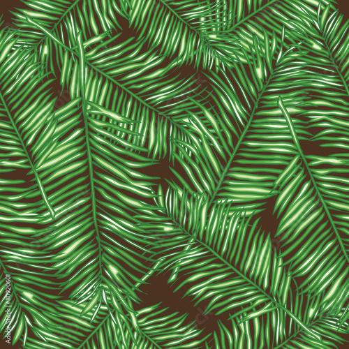 Ingelijste posters Tropische Bladeren Palm leaves, abstract vector seamless pattern