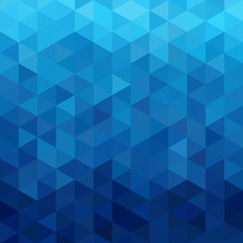 Triangular Abstract Background Blue Ocean