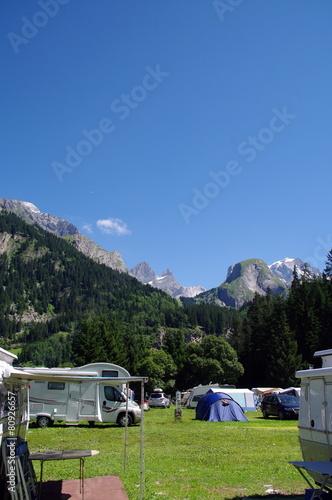 Photo Stands Camping pralognan la vanoise-savoie