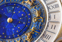 Closeup On Astronomical Clock ...