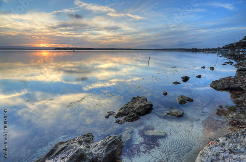 Fotografía  Sunset skies and reflections at Wrights Beach St Georges Basin