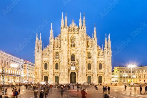 mata magnetyczna Katedra w Mediolanie, Duomo di Milano, Włochy.