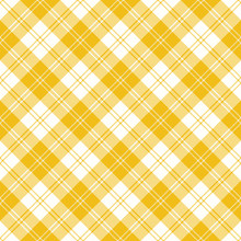 Yellow Plaid Tartan Vector Seamless Pattern 2