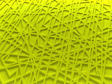Yellow Chaos Mesh Background Rendered