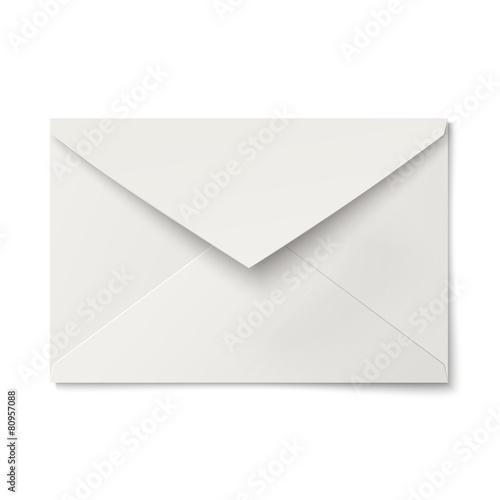 Cuadros en Lienzo  Slightly, ajar opened white envelope isolated