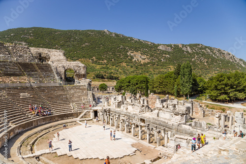 obraz lub plakat Ephesus. View of the Big Theatre