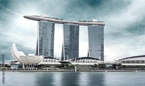 Spoed Foto op Canvas Singapore landmark of Singapore