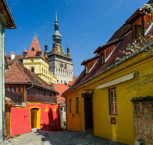 Fotografie, Obraz  Sighisoara v Transylvánii, Rumunsko